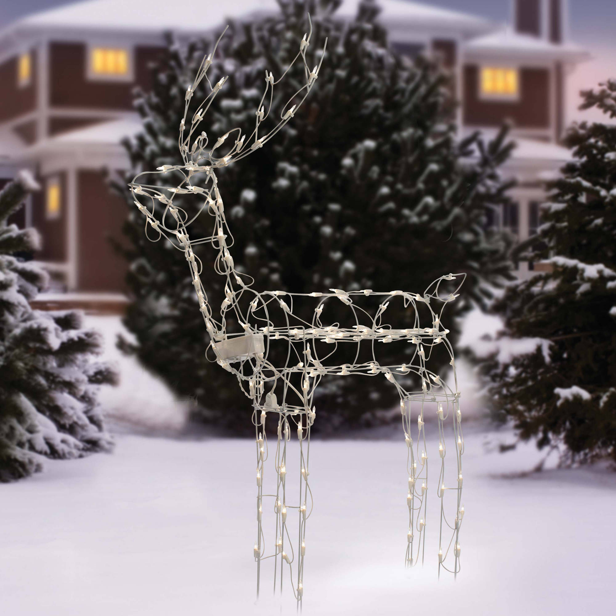 "Holiday Time 48"" Tall Animated Standing Buck Light Sculpture Christmas Decor"