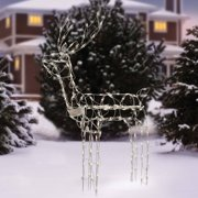 holiday time 48 tall animated standing buck light sculpture christmas decor - Outdoor Christmas Reindeer Decorations Lighted