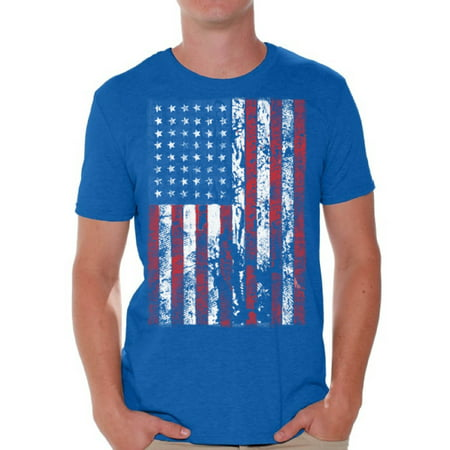 Awkward Styles American Flag Distressed Men Shirt Love USA 4th of July Men T shirt 4th of July Party USA Flag Tshirt for Men Patriotic Gifts 4th of July Men T-shirt Made in the USA