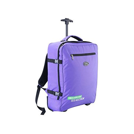 Cabin Max Madrid 55X40x20cm Multi Function Trolley And Backpack Carry On Ryanair Purple