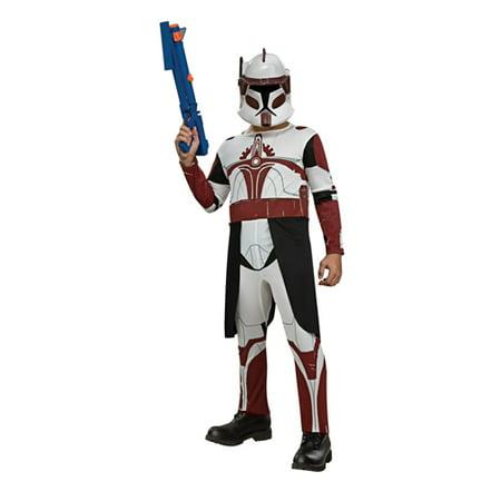 Star Wars Clone Wars Clone Trooper Child's Commander Fox Costume, Small - Clone Trooper Costumes
