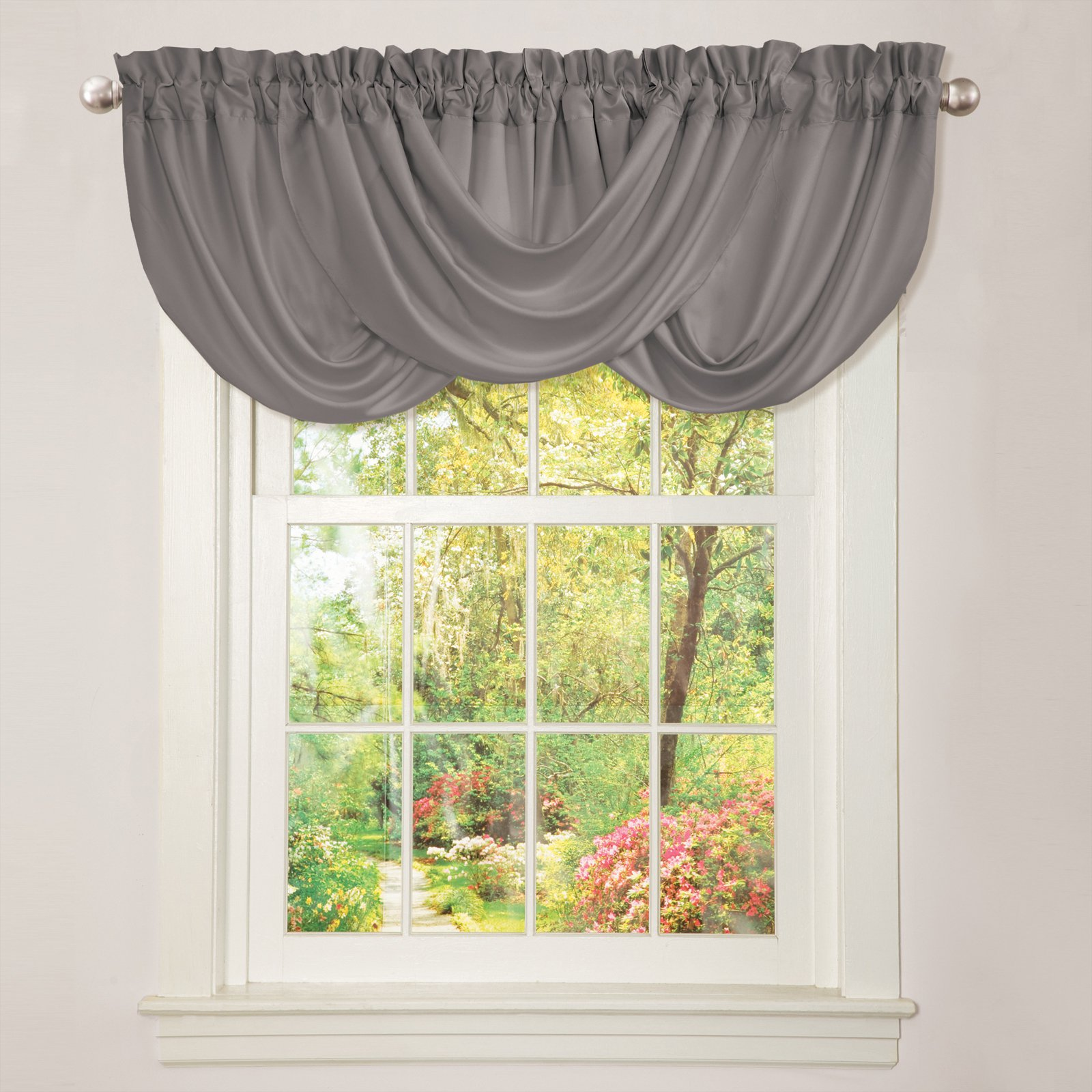 Lush Decor Lucia Curtain Panel Pair with Optional Valance