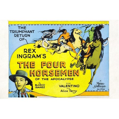 The Four Horsemen of the Apocalypse Movie Rudolphe Valentino Poster Print Poster Wall