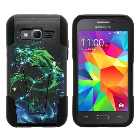 Samsung Galaxy Core Prime G360 Strike Impact Dual Layered Shock Resistant Case With Built In Kickstand By Miniturtle    Dragon Stars