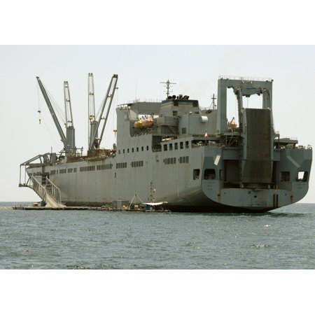 Military Sealift Command Ships - LAMINATED POSTER Military Sealift Command Large, Medium-speed Roll-on/Roll-off ship USNS Seay conducts operations in Poster Print 24 x 36