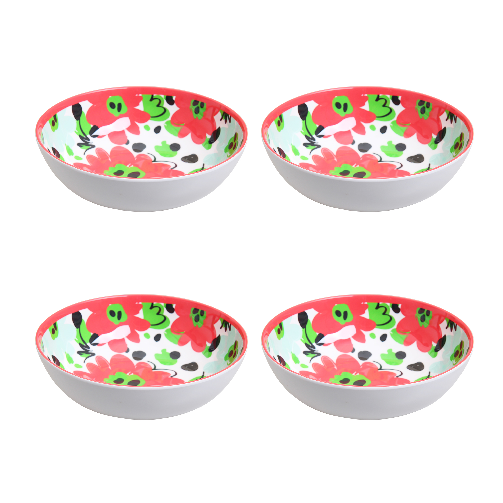 Better Homes & Gardens Outdoor Melamine Red Floral Cereal
