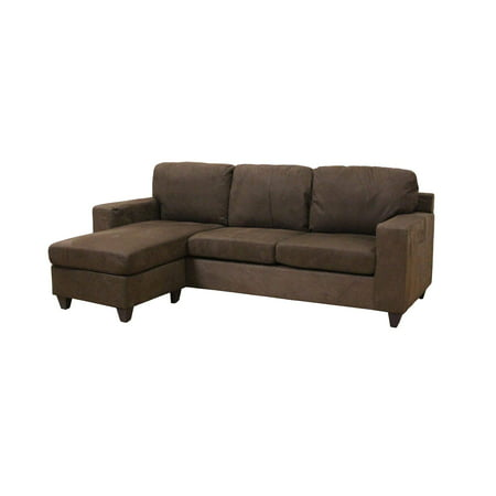 Acme Vogue Microfiber Reversible Chaise Sectional Sofa Multiple Colors