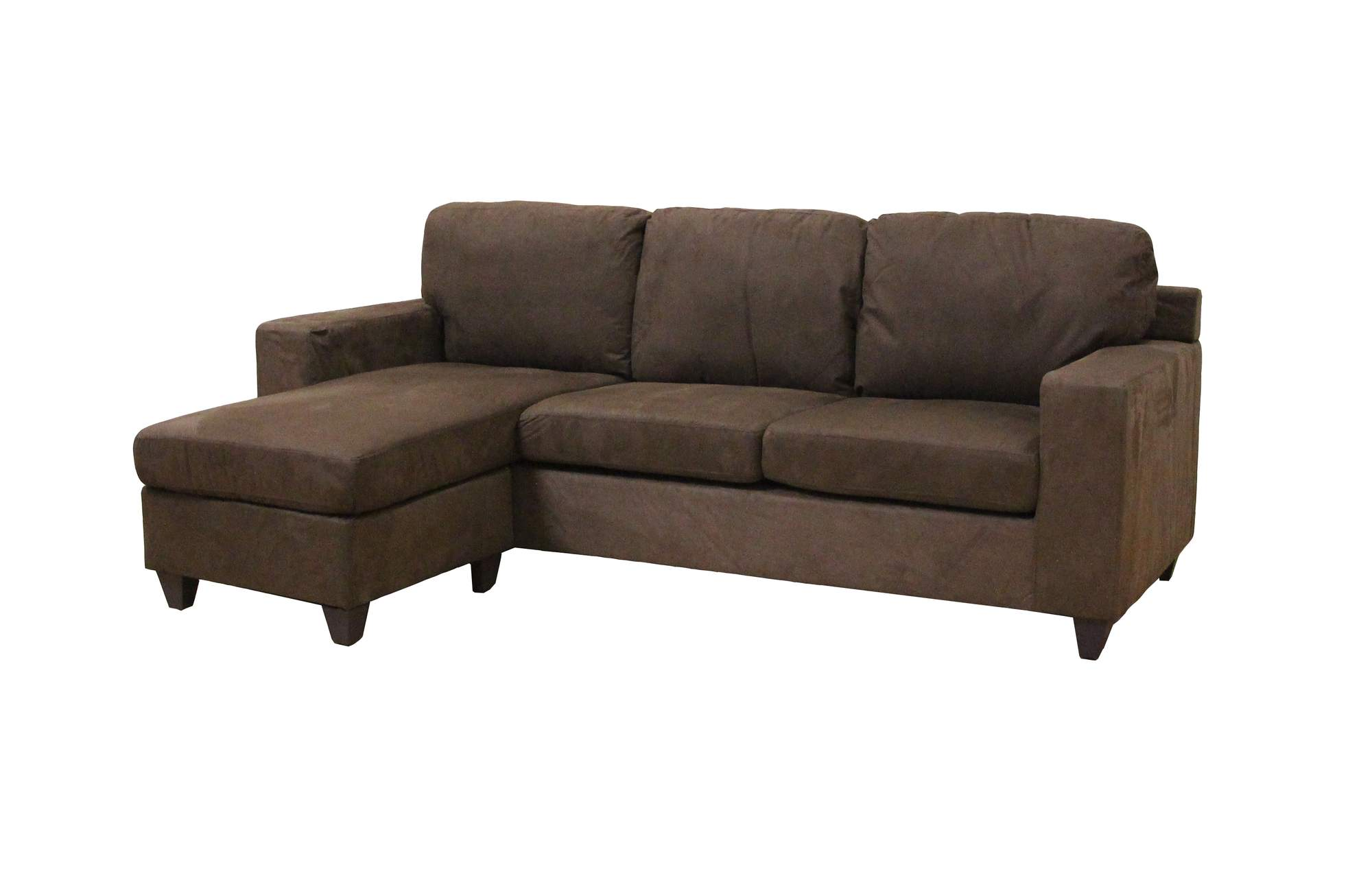 Beau Acme Vogue Microfiber Reversible Chaise Sectional Sofa, Multiple Colors
