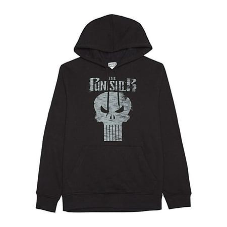 Jem Marvel The Punisher Black Graphic Hooded Sweatshirt X-Large XL