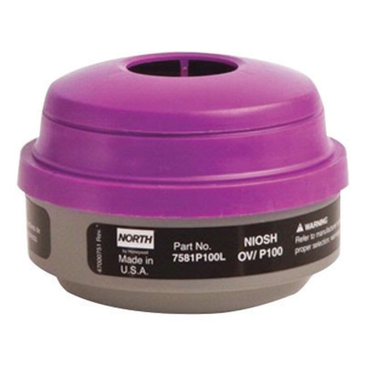 North by Honeywell Organic Vapors/Particulate P100 APR Cartridge For 5500, 7700, 5400 And 7600 Series Respirators