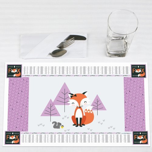 Miss Foxy Fox Party Placemats Set of 12 by Big Dot of Happiness, LLC