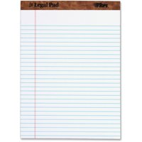 TOPS The Legal Pad Writing Pads, Legal Rule, 50 Sheets, 8-1/2 in. x 11-3/4 in., White, 12 Pack (7533)