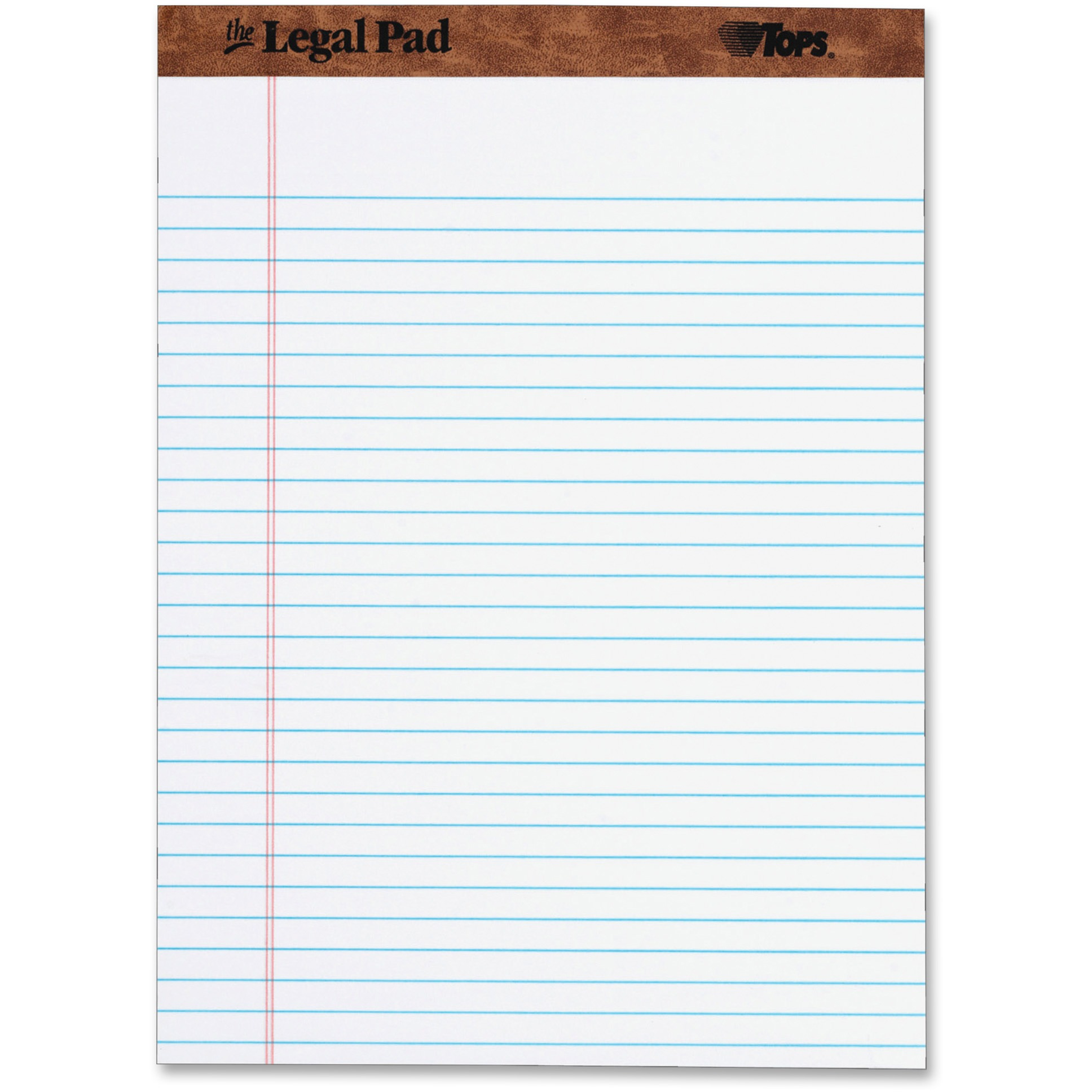 TOPS The Legal Pad Writing Pads, Legal Rule, 50 Sheets, White, (7533)