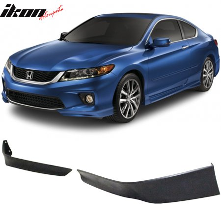 Compatible with 13-15 Honda Accord Coupe 2Dr HFP Style 2 Piece Front Lip Underbody Spoilers (Accord Coupe Roof Spoiler)