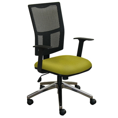 Task Mesh Chair with Lime Fabric and Aluminum Base MVLWMCTKFAF6561