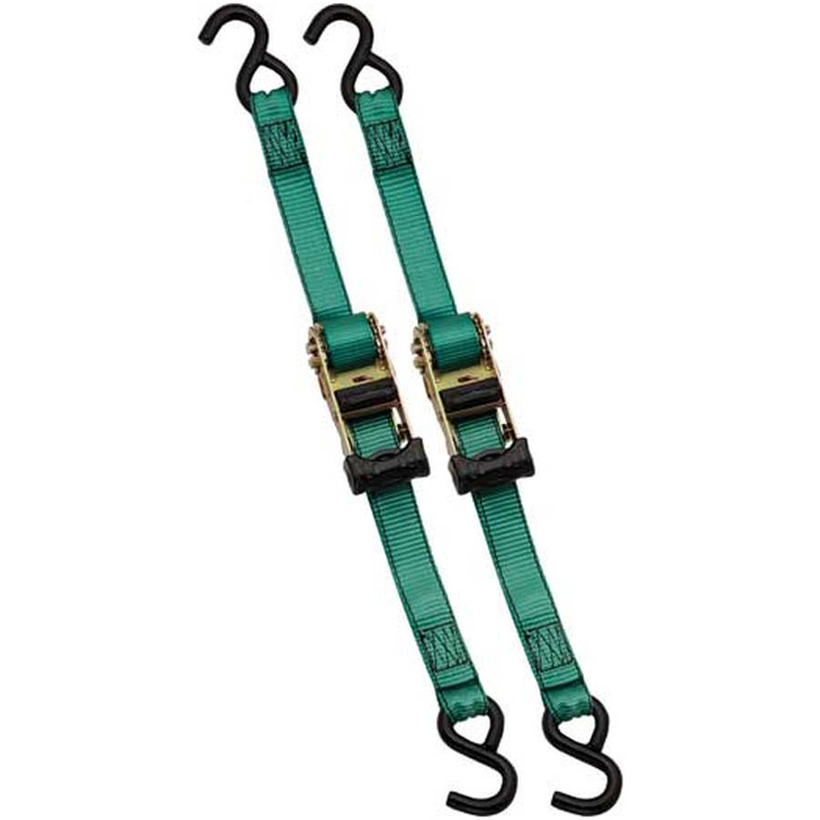 """Ratchet Tie Down, 1-1/4"""" x 10Ft, 3,300 Lbs., Break Strength Replacement Auto Part, Easy to Install"""