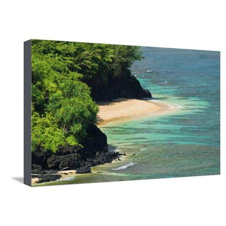 Hideaways Beach, Princeville, Island of Kauai, Hawaii, USA Stretched Canvas Print Wall Art By Russ Bishop