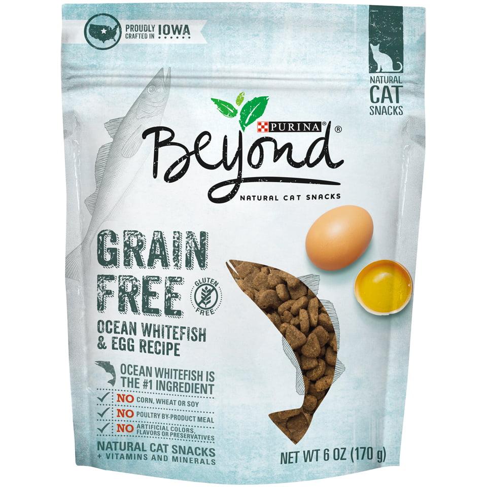 Purina Beyond Grain Free Ocean Whitefish & Egg Recipe Cat Treats, 6 oz. pouch