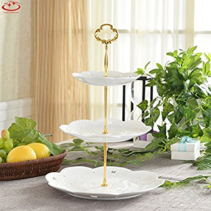 Cake Plate Stand Handle Zinc Alloy Multi-tiers Tier Fruit Cake Plate Stand Handle for & Cake Plates