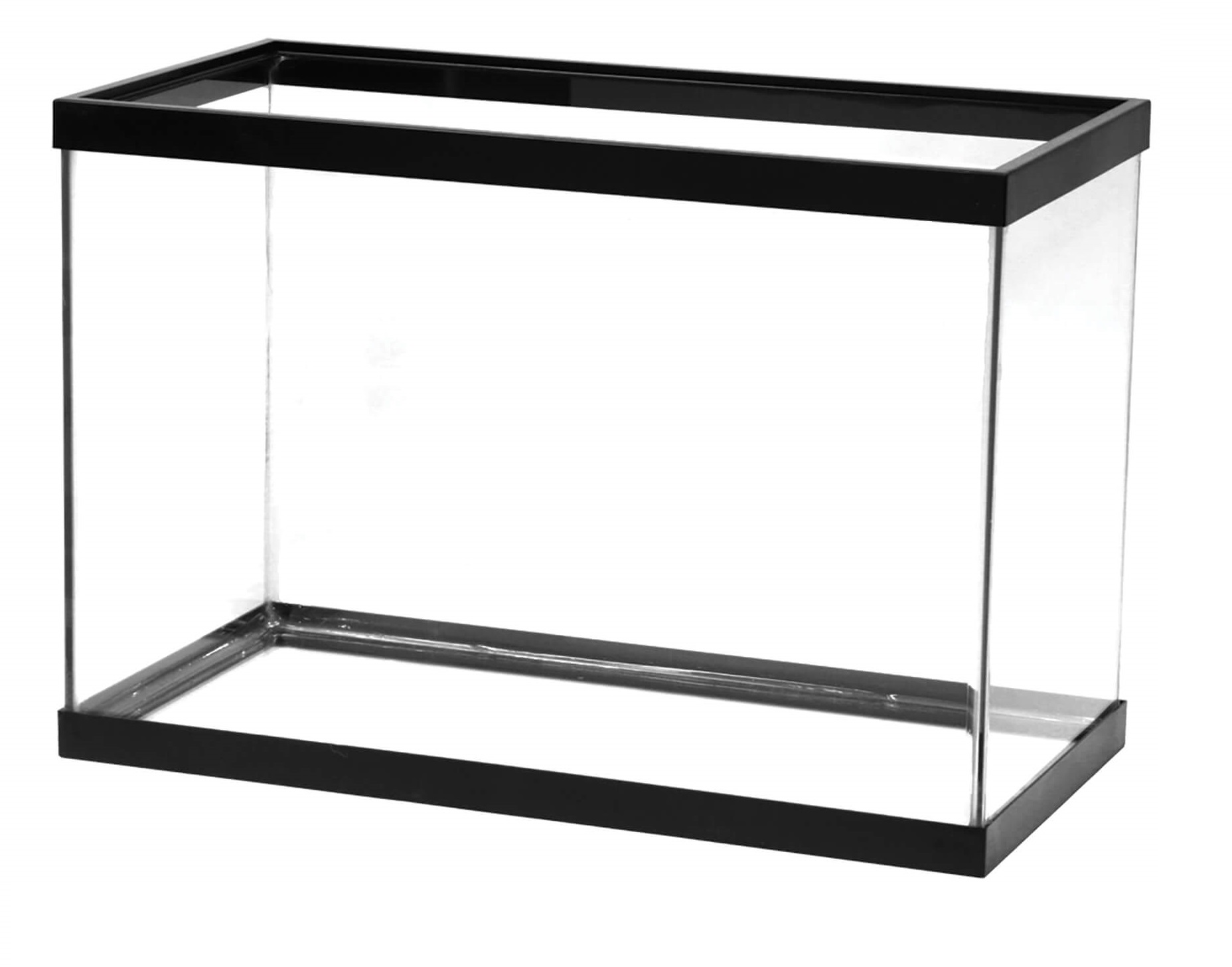 Aqueon 20 gal High Standard Aquarium Tank, Black Trim by Aqueon