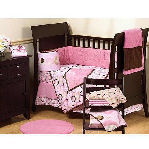 George Baby - Uptown 4-Piece Crib-In-A-Bag Bedding Set, Pink
