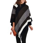 Faded Glory Color Block Knit Poncho