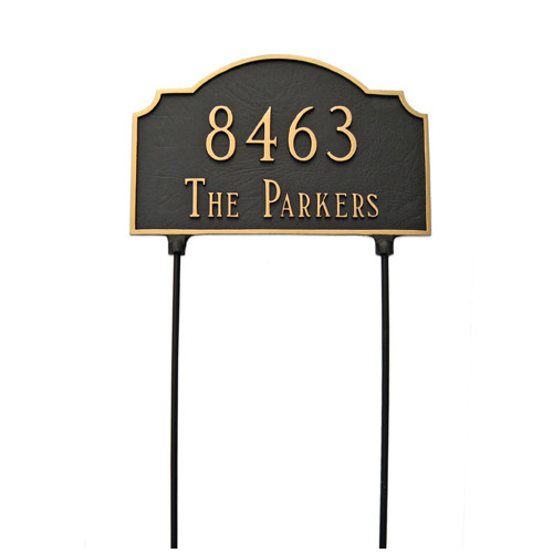 Montague Metal Products Inc. Vanderbilt Two Sided Lawn Address Sign