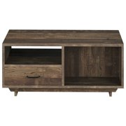 Furniture of America Xan Storage Coffee Table in Reclaimed Oak