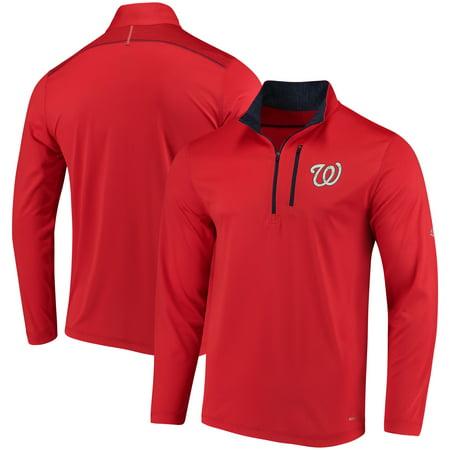 Washington Nationals Majestic Half-Zip Pullover Top - Red