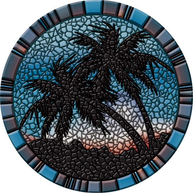 Palm Trees Poolsaic -- 59 inches