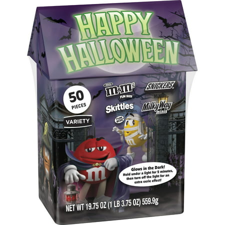 M&M'S, SNICKERS, SKITTLES, & STARBURST Fun Size Halloween Candy Variety Mix, 19.75-Ounce (Halloween M&m's Candy Corn)