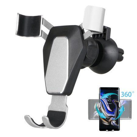 EEEKit Universal Gravity Car Phone Holder Easy One-Touch Car Air Vent Mount Stand Phone Cradle with 360 Degree Rotating for iPhone XR/XS/XS Max/8/7 Samsung Galaxy S9