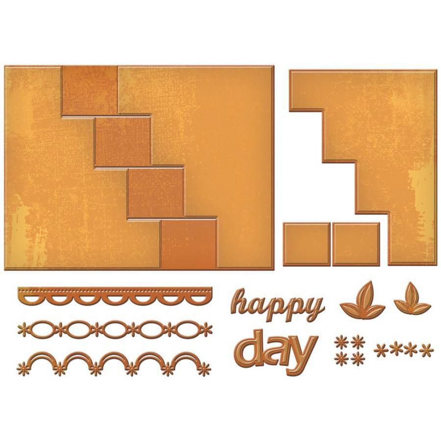 Spellbinders Card Creator Step Card, Happy Days