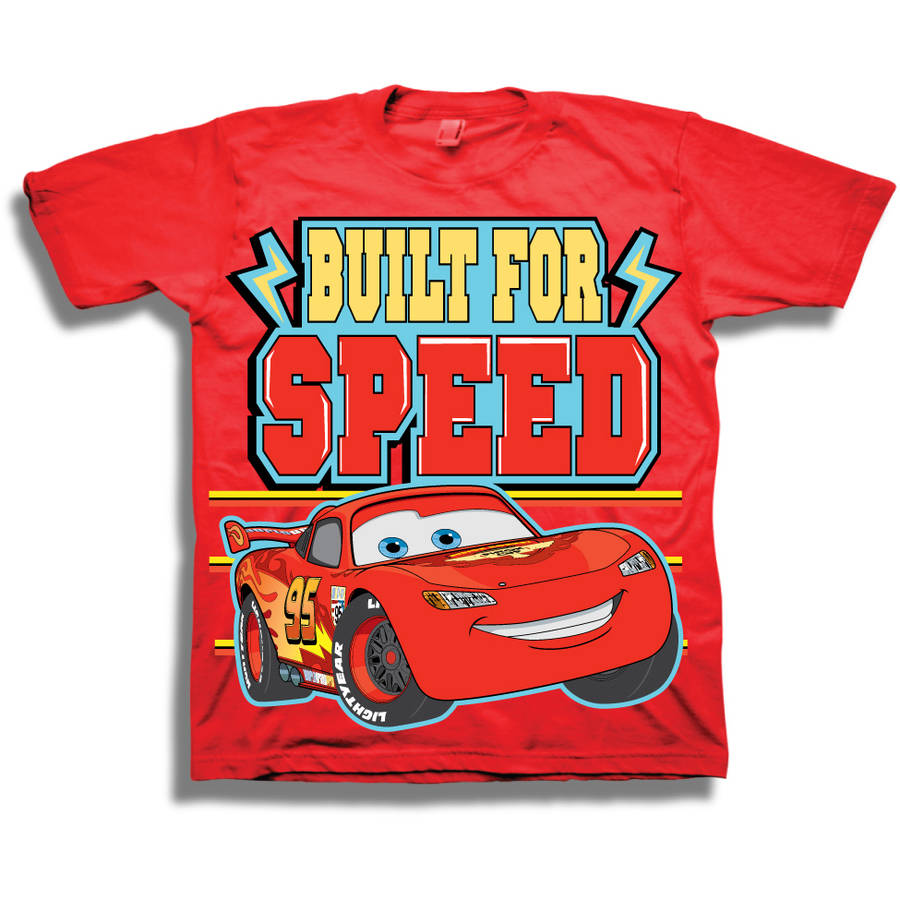 Cars Built 4 SpeedToddler Boy Short Sleeve Graphic Tee Shirt