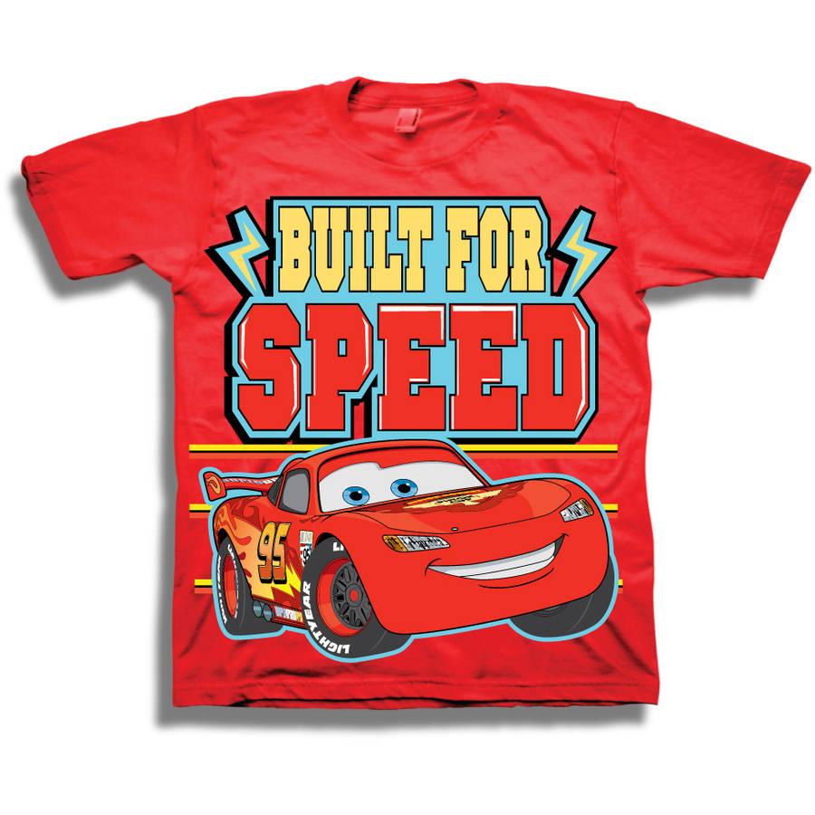 Cars Built 4 SpeedToddler Boy Short Sleeve Graphic Tee Shirt