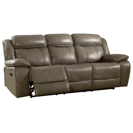 Magnificent Furniture Of America Bonjo Faux Leather Reclining Sofa In Gray Unemploymentrelief Wooden Chair Designs For Living Room Unemploymentrelieforg