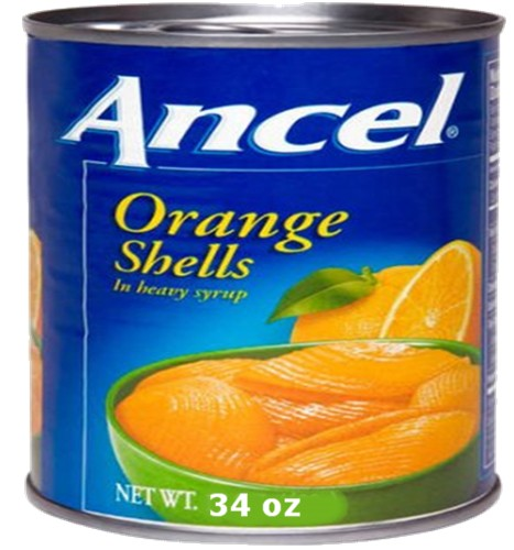 Orange Shells in Heavy Syrup  34 oz can