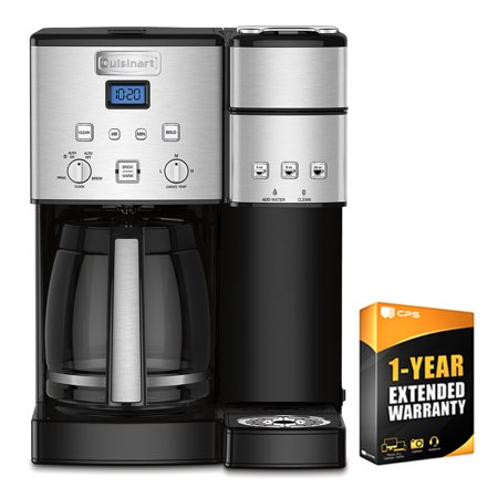 Cuisinart 12 Cup Coffeemaker and Single Serve Brewer (Certified Refurbished) (SS-15FR) with 1 Year Extended (Cuisinart Coffee Maker Single Serve Brewing System)