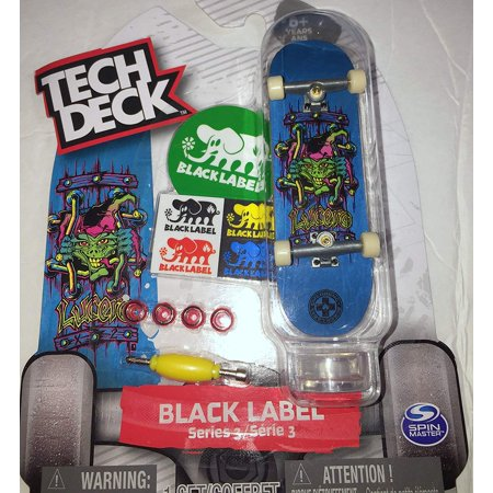 Emergency John Lucerno X2 Tech Desk Series 2 Black Label Skateboard 96mm Board with Stand Rare