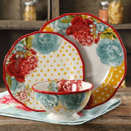 The Pioneer Woman Blossom Jubilee 12 Piece Dinnerware Set