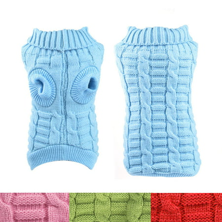 Small Dog Clothes Puppy Pet Warm Sweater Knit Coat Dog Apparel Costumes