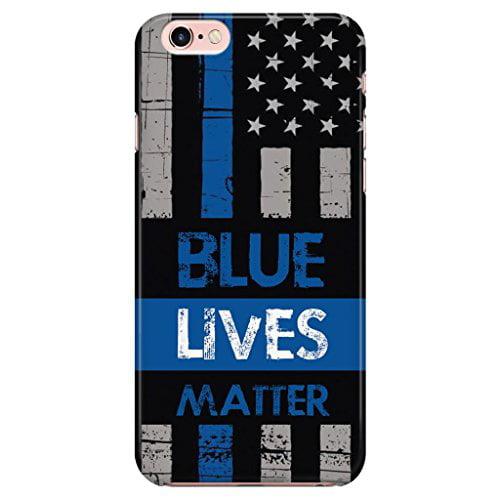 Ganma Blue Lives Matter Police Law EnCase Forcement Rubber Case For iPhone X, 10 ( 5.8 inch)