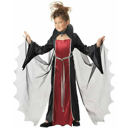 Vampire Girls' Child Halloween Costume (Vampire Face Halloween)