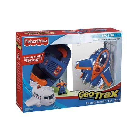 Geotrax Remote Control GeoAir Plane with Blue Flash and Dynamo Dan - The Most Exciting Team