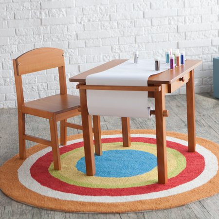 Guidecraft Art Table And Chair Set Honey