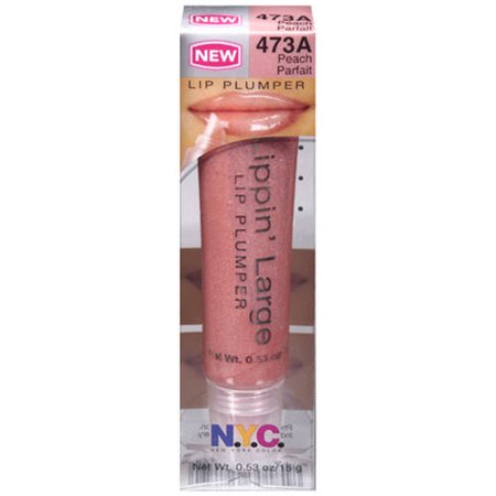N.Y.C. New York Color Lippin' Large Lip Plumper, 473A Peach Parfait, 0.53 oz