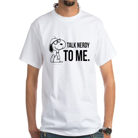 CafePress - Snoopy Nerd White T Shirt - Men's Classic T-Shirts - Classic Nerd