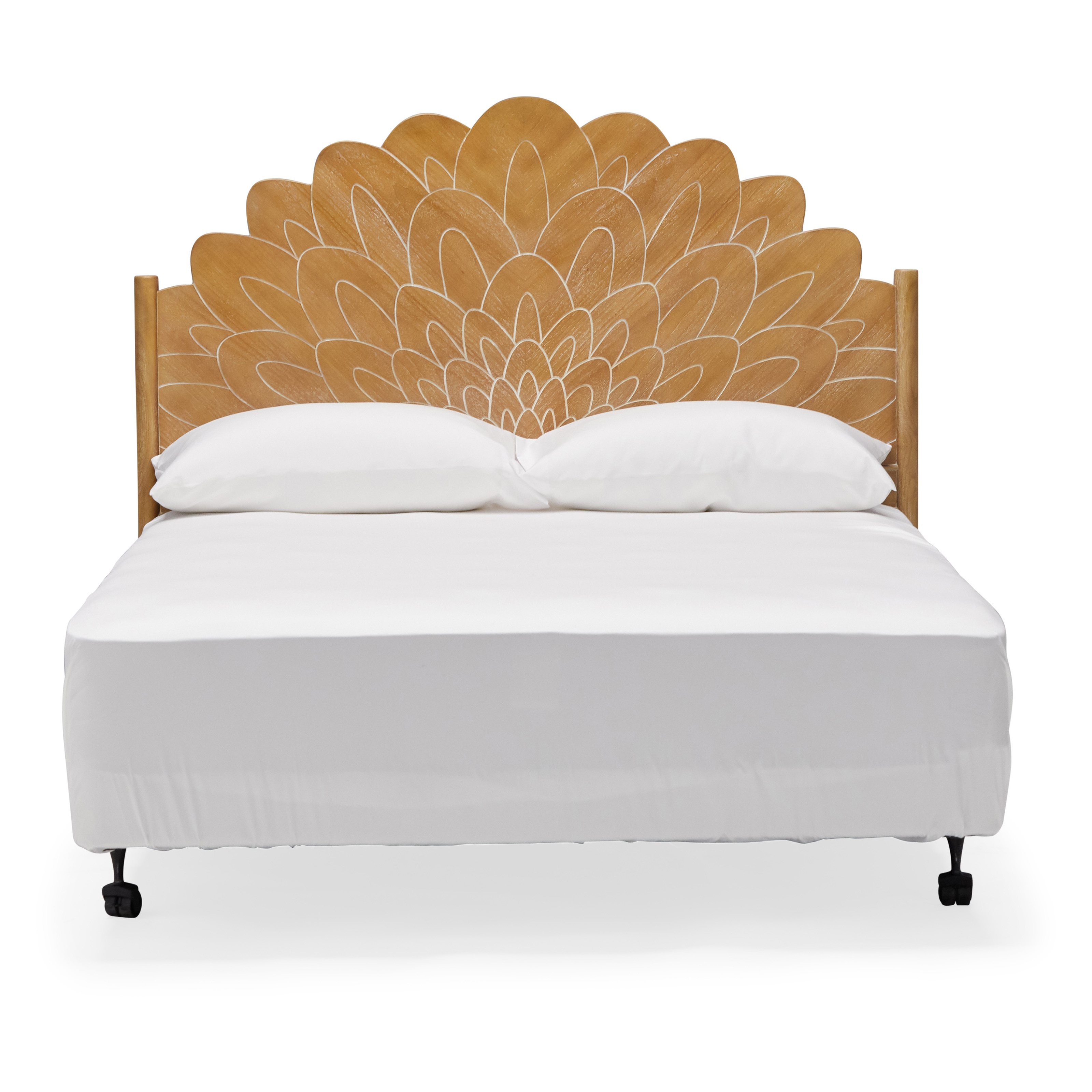 Bohemian Carved Wood Headboard By Drew Barrymore Flower Home Walmart Com Walmart Com
