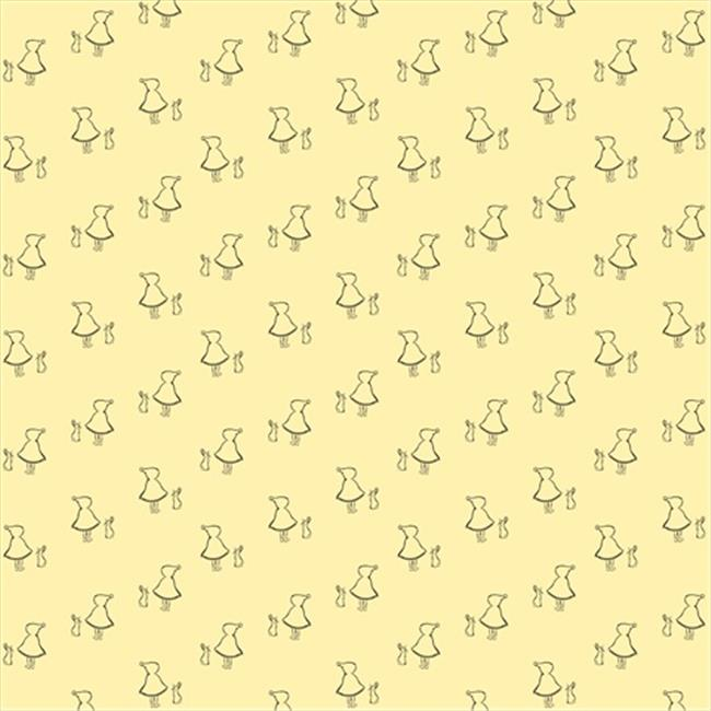 Wallcandy Arts buf01wp Bunny Up Buff Wallpaper - Full Kit