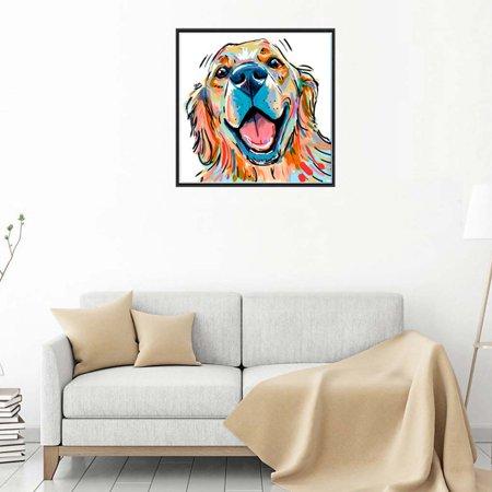 Electronicheart 5D Rhinestone Color Pug Dog Painting DIY Cartoon Animals Crafts Resin Needlework Crystal Cross Stitch - image 3 of 8